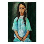Amedeo Modigliani Alice Vintage Girl Painting Art Cards