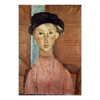 Amedeo Modigliani - Girl with Hat Poster