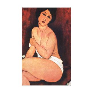 Amedeo Modigliani Large Seated Woman Canvas Print