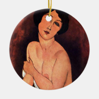 Amedeo Modigliani Large Seated Woman Ceramic Ornament