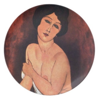Amedeo Modigliani Large Seated Woman Dinner Plate
