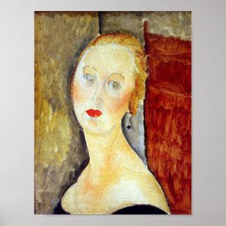 Amedeo Modigliani - portrait de Germaine Survage Poster