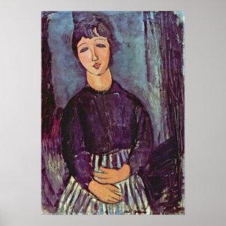 Amedeo Modigliani - Portrait of Zofe Poster