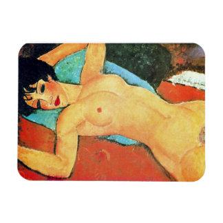 Amedeo Modigliani - Reclining Woman Rectangular Photo Magnet