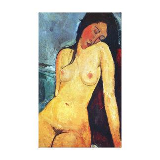 Amedeo Modigliani - Seated Female Canvas Print