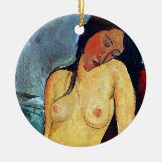 Amedeo Modigliani - Seated Female Christmas Ornaments