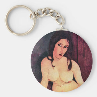 Amedeo Modigliani - Seated Woman Keychain