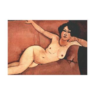 Amedeo Modigliani Woman On A Sofa Canvas Print