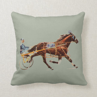 Ameican Standardbred Throw Pillow
