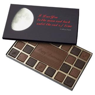 Ámele a la luna caja de bombones variados con 45 piezas