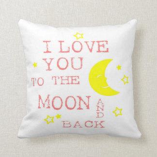 Ámele a la luna y a la almohada de tiro trasera