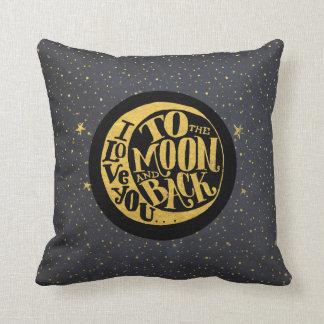 Ámele a la luna y a la parte posterior - cielo cojín decorativo