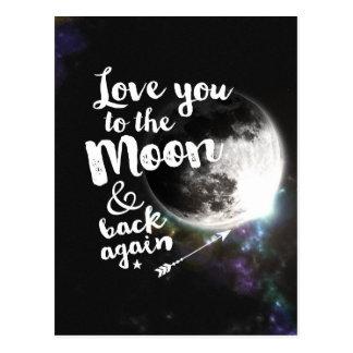 Ámele a la luna y a la parte posterior otra vez • tarjetas postales