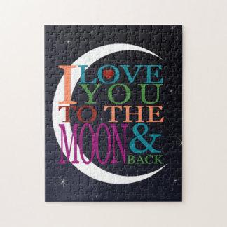 Ámele a la luna y a la parte posterior puzzle