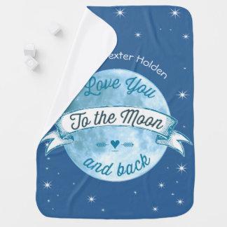 Ámele a la luna y al bebé trasero del hombre de manta de bebé