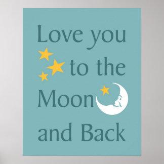 Ámele a la luna y al poster trasero