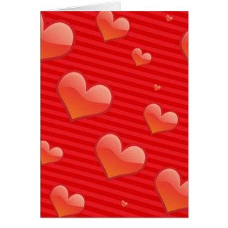 Ámele a la plantilla de la tarjeta del corazón cre