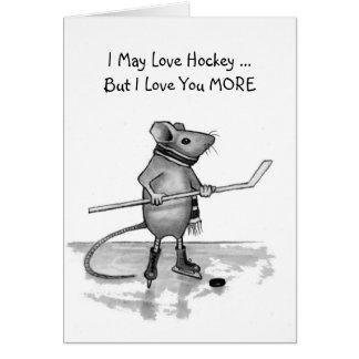 Ámele agradecen más hockey: Ratón en lápiz Tarjeta De Felicitación