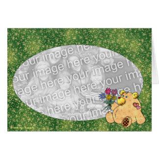 Ámele agrupa la plantilla del oso tarjeta de felicitación