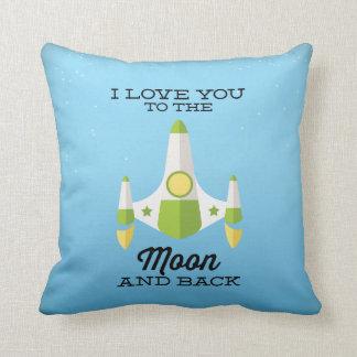 Ámele al azul de la luna y de la parte posterior almohadas