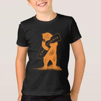 Ámele California--Naranja y negro Playera