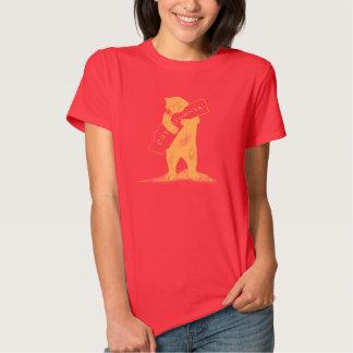 Ámele California--Rojo y oro Playera