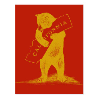 Ámele California--Rojo y oro Postal