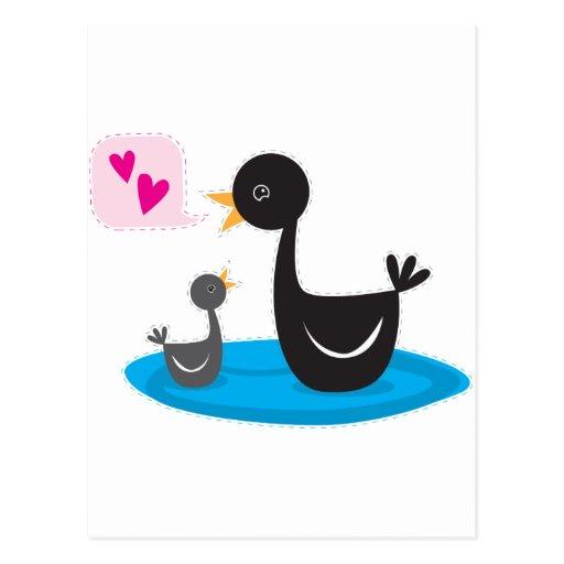 ámele cisne del bebé tarjetas postales