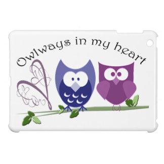Ámele con el búho mi corazón, mini caso del iPad