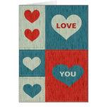Ámele con la tarjeta de los corazones