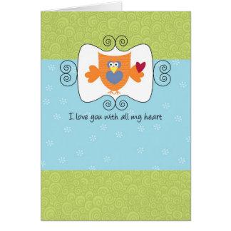 Ámele con todo mi corazón tarjeta de felicitación