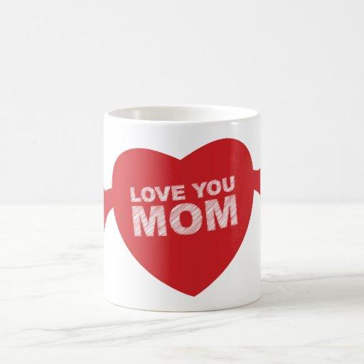 Ámele corazón de la mamá taza