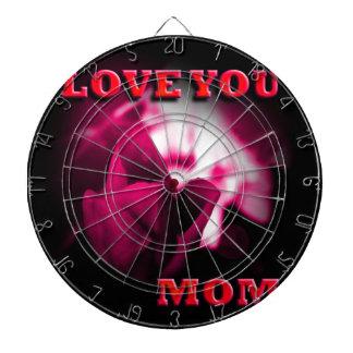 Ámele diseño del rosa rojo de la mamá tablero de dardos