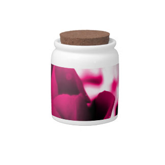 Ámele diseño del rosa rojo de la mamá plato para caramelo