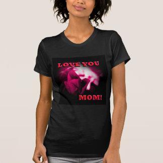 Ámele diseño del rosa rojo de la mamá polera