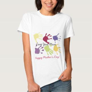 ¡Ámele el día de madre feliz de la mamá! Camiseta Polera