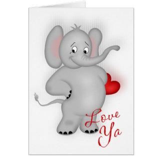 Ámele elefante tarjeta de felicitación