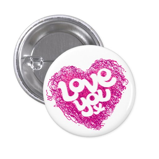 Ámele insignia rosada del corazón de x pin