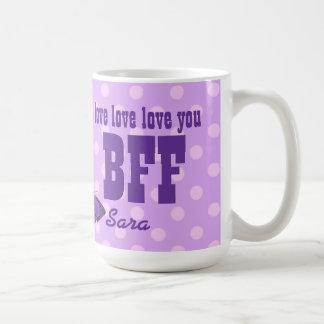Ámele la mariposa púrpura V01J de BFF Taza