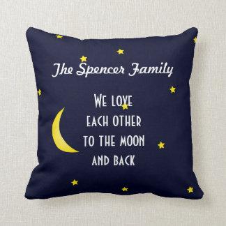 Ámele luna y almohada personalizada parte