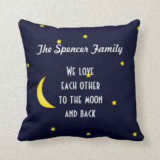 Ámele luna y almohada personalizada parte cojín decorativo