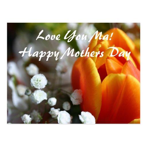 ¡Ámele mA! Día de madres feliz Tarjetas Postales
