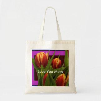 Ámele mamá - tulipanes el MUSEO Zazzle Bolsa Tela Barata