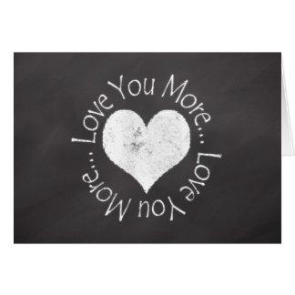 Ámele más tarjeta del día de San Valentín