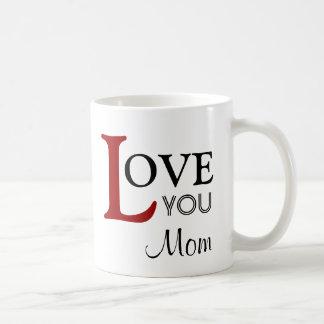 Ámele nombre del personalizado de la mamá tazas de café