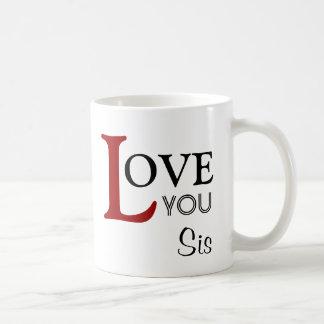 Ámele nombre del personalizado del SIS Tazas De Café