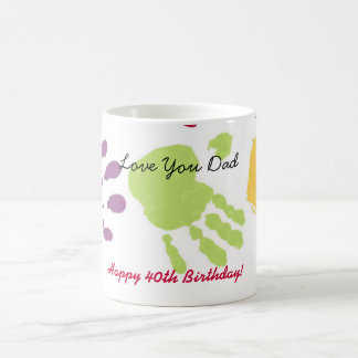 ¡Ámele papá, 40.o cumpleaños feliz! Taza de café