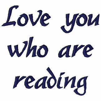 """""""Ámele que está leyendo"""" la camiseta bordada"""