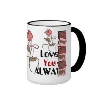 Ámele siempre taza del regalo