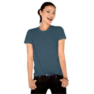Ámele también la luna y la parte posterior camisetas